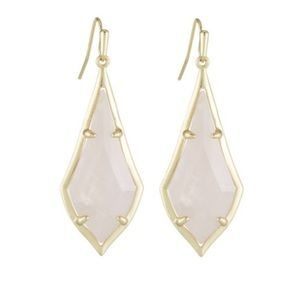 Kendra Scott Olivia Drop Earrings, Rose Quartz